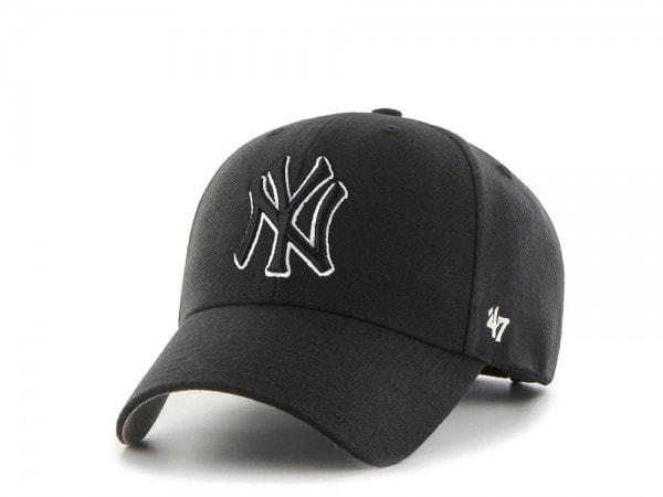47brand New York Yankees White & Black MVP Snapback Cap