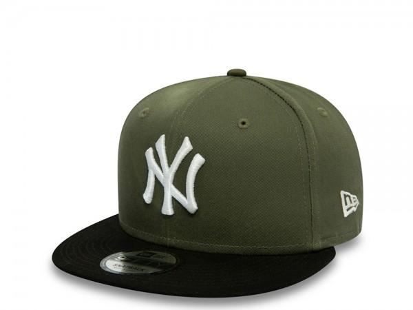 New Era New York Yankees Color Block Olive 9Fifty Snapback Cap