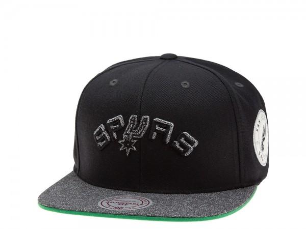 Mitchell & Ness San Antonio Spurs Melange Patch Snapback Cap