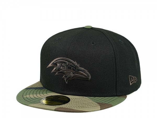 New Era Baltimore Ravens Camo Black Edition 59Fifty Fitted Cap