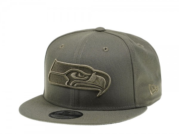 New Era Seattle Seahawks Olive Tonal 9Fifty Snapback Cap