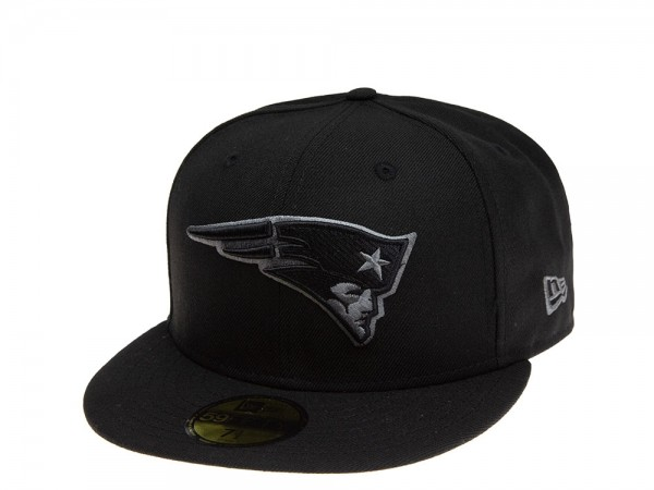 New Era New England Patriots Black & Grey 59Fifty Fitted Cap