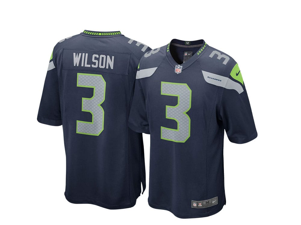 Nike Seattle Seahawks Russell Wilson Home Game NFL Jersey