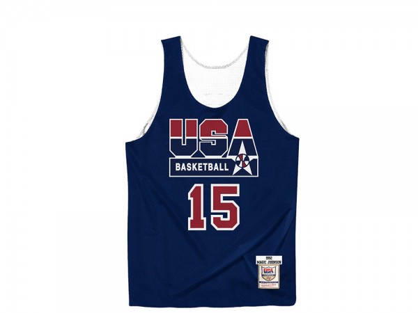 Mitchell & Ness Dream Team - Magic Johnson Authentic Reversible Practice Jersey