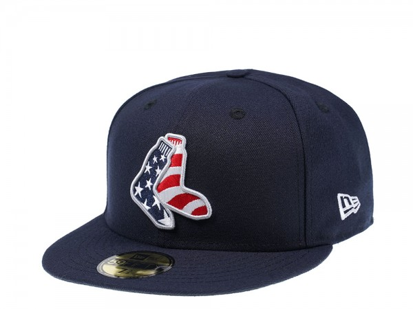 New Era New Boston Red Sox American Flag 59Fifty Fitted Cap