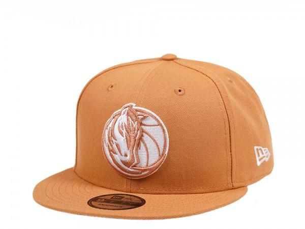 New Era Dallas Mavericks Panama Tan Edition 9Fifty Snapback Cap