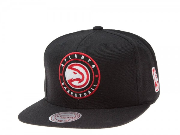 Mitchell & Ness Atlanta Hawks black circle Snapback Cap