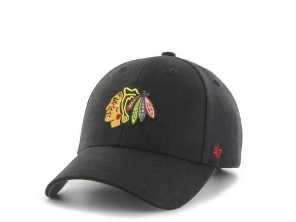 47brand Chicago Blackhawks Mvp Curved Strapback Cap