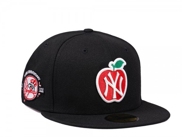 New Era New York Yankees Big Apple 100th Anniversary Black and Red Edition 59Fifty Fitted Cap