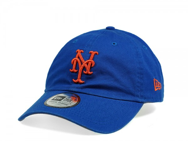 New Era New York Mets Casual Classic Blue Strapback Cap