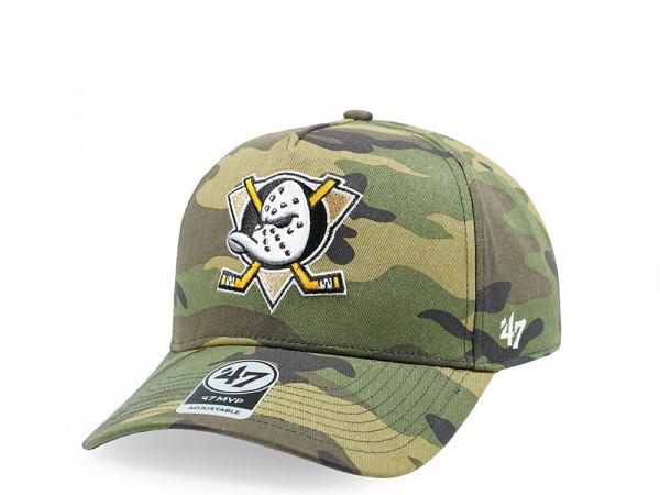 47Brand Anaheim Ducks Camo Grove MVP DT Snapback Cap
