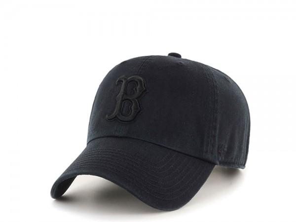 47Brand Boston Red Sox Clean Up All Black Strapback Cap