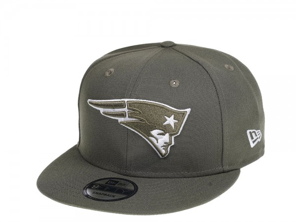 New Era New England Patriots Olive 9Fifty Snapback Cap