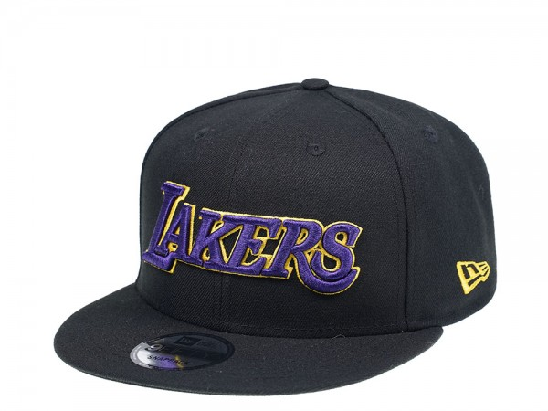 New Era Los Angeles Lakers Black Team Edition 9Fifty Snapback Cap