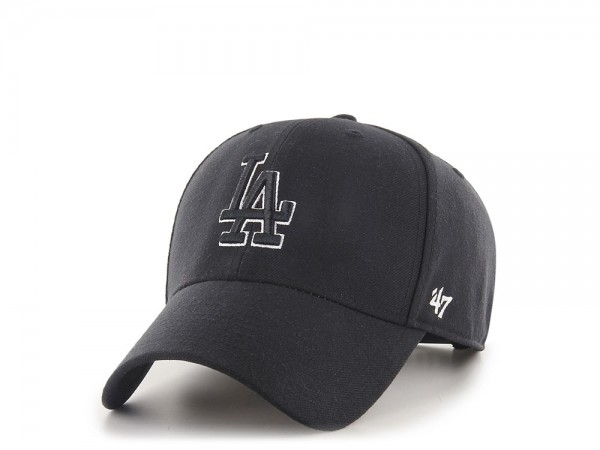 47Brand Los Angeles Dodgers Black and White MVP Snapback Cap