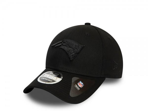 New Era New England Patriots All Black 9Forty Stretch Snapback Cap