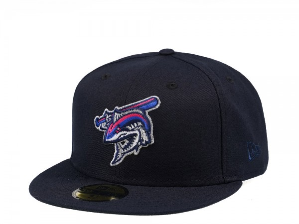 New Era Pensacola Blue Wahoos Navy Edition 59Fifty Fitted Cap