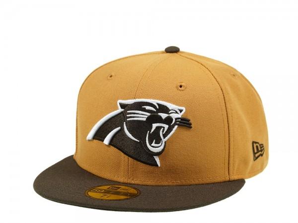 New Era Carolina Panthers Panama Two Tone 59Fifty Fitted Cap