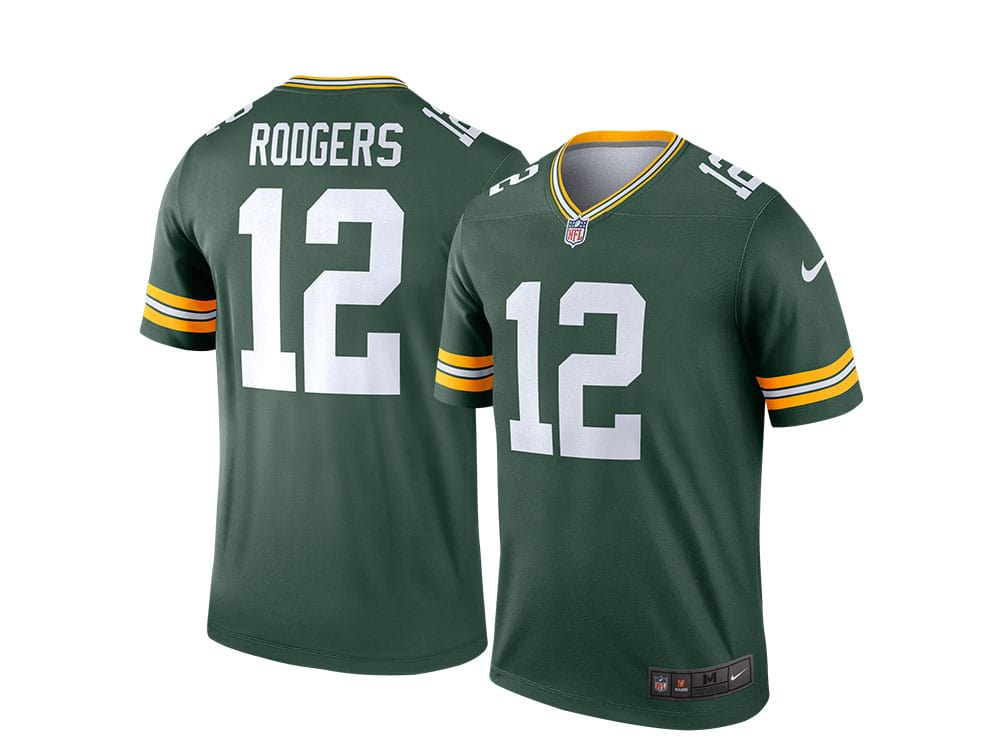 Nike Green Bay Packers Aaron Rodgers Home Legend NFL Jersey