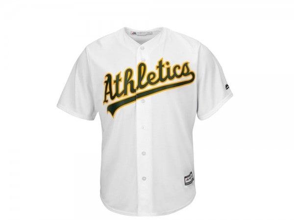 Majestic Oakland Athletics Base MLB Trikot weiss