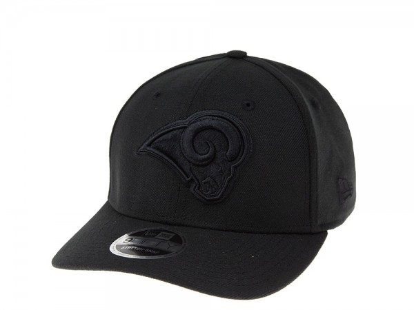New Era Los Angeles Rams Black on Black 9Fifty Stretch Snapback