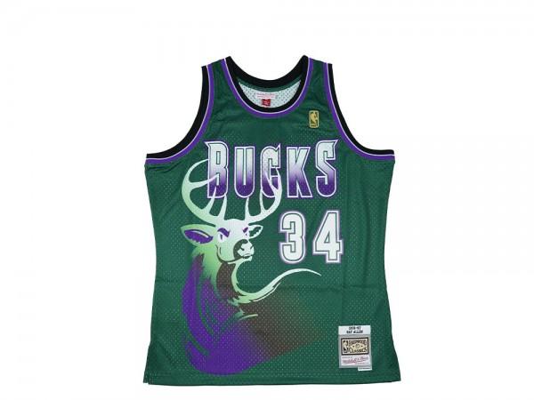 Mitchell & Ness Milwaukee Bucks Ray Allen Swingman 2.0 1996-97 Jersey