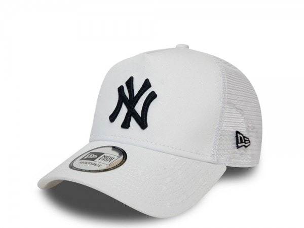 New Era New York Yankees White  A Frame Trucker Cap