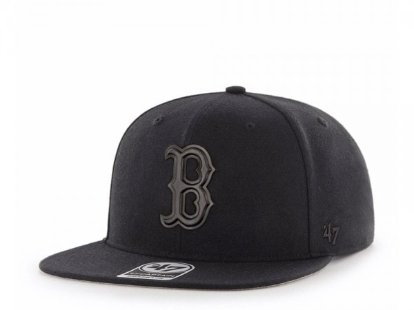 47brand Boston Red Sox Black Matte Captain Snapback Cap