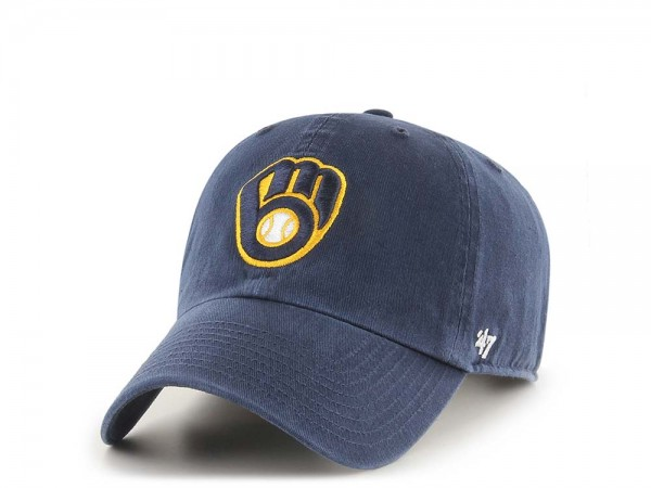 47Brand Milwaukee Brewers Clean Up Strapback Cap