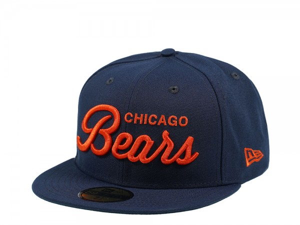 New Era Chicago Bears Script Edition 59Fifty Fitted Cap