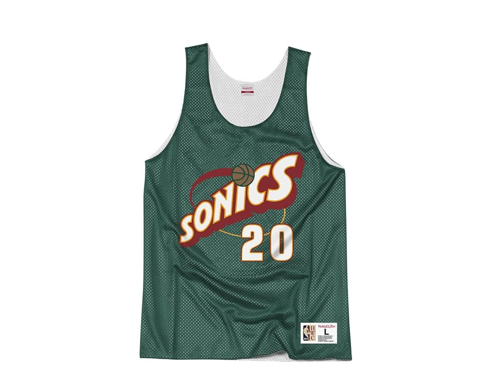 best sneakers 5a4e7 9f359 Mitchell & Ness Seattle Supersonics Gary Payton Reversible Mesh Jersey