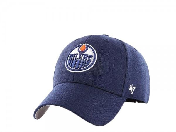 47brand Edmonton Oilers MVP Curved Edition Strapback Cap
