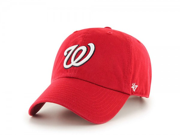 47Brand Washington Nationals Red Clean up Strapback Cap