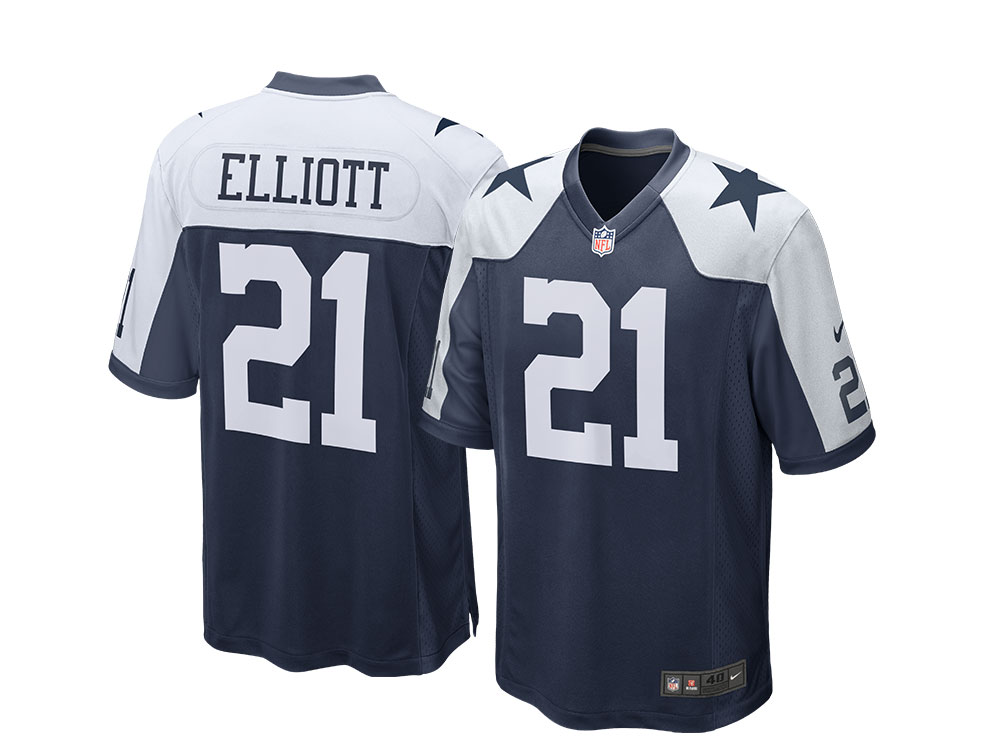 Nike Dallas Cowboys Ezekiel Elliott Alternate Game NFL Jersey