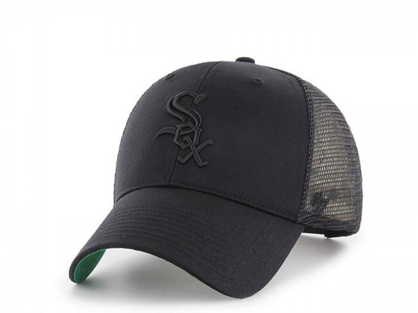 47Brand Chicago White Sox Black on Black MVP Trucker Snapback Cap