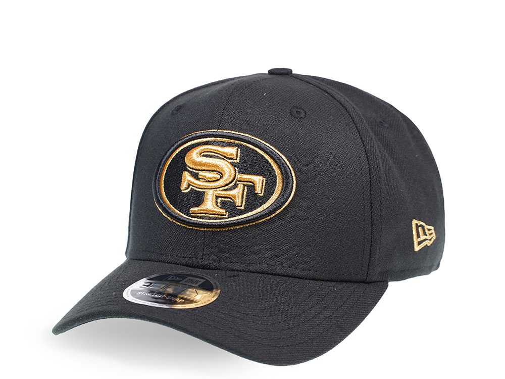 uk store low cost high fashion New Era San Francisco 49ers Black and Gold Edition 9Fifty Stretch ...