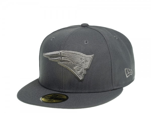 New Era New England Patriots Graphite Edition 59Fifty Fitted Cap