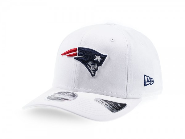 New Era New England Patriots All White 9Fifty Stretch Snapback Cap