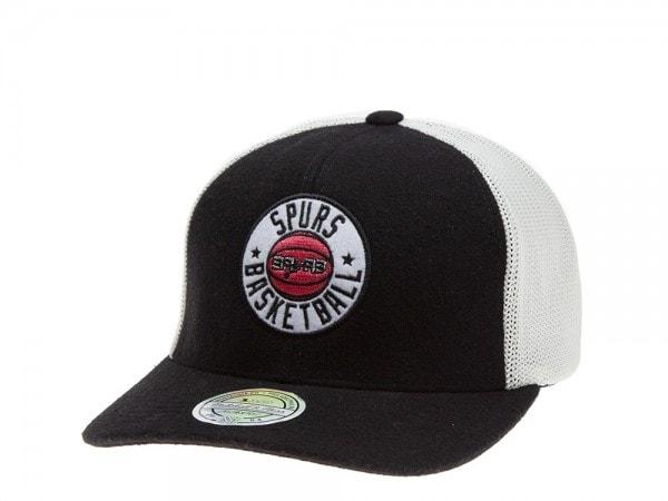 Mitchell & Ness San Antonio Spurs Flexfit 110 Trucker Cap