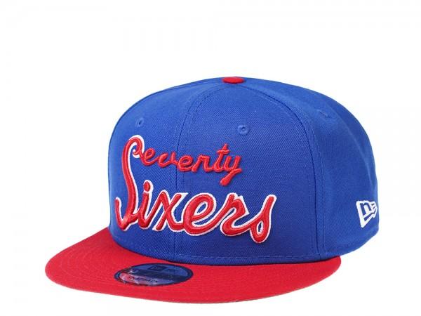 New Era Philadelphia 76ers Script HWC 9Fifty Snapback Cap
