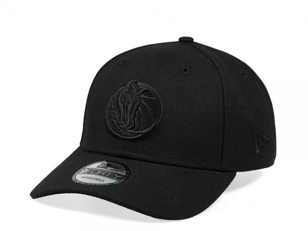 New Era Dallas Mavericks All Black Edition 9Forty Snapback Cap