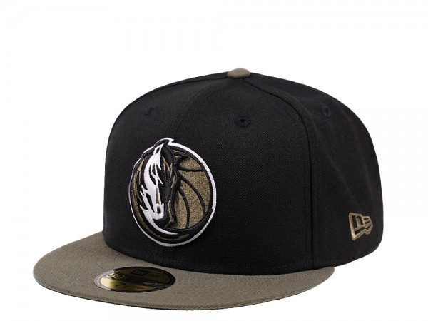 New Era Dallas Mavericks Two Tone Olive Edition 59Fifty Fitted Cap