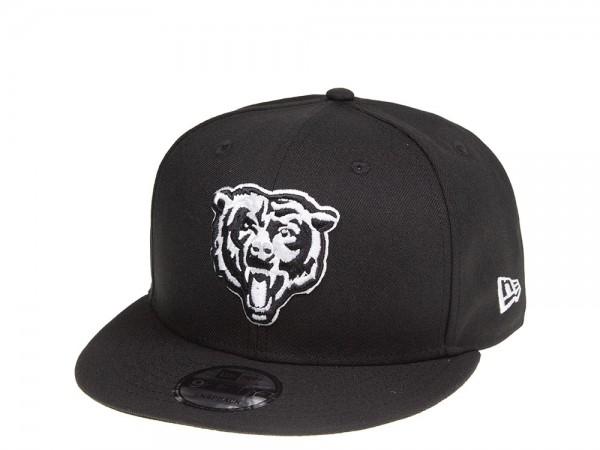 New Era Chicago Bears Black and White 9Fifty Snapback Cap