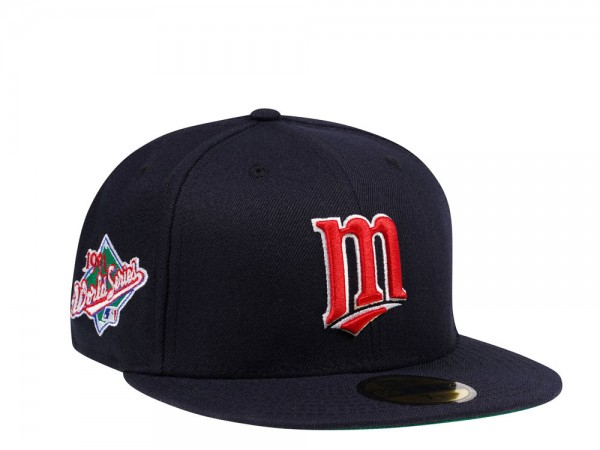 New Era Minnesota Twins Navy World Series 1991 Throwback Edition 59Fifty Fitted Cap