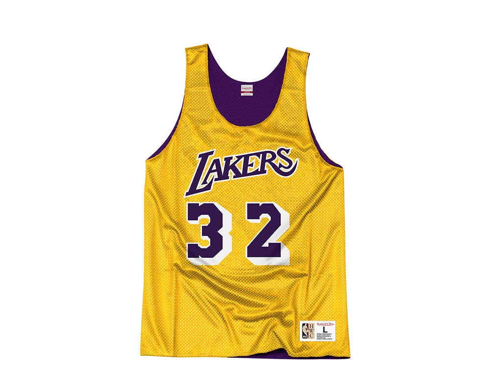 sports shoes 57993 24377 Mitchell & Ness Los Angeles Lakers Magic Johnson Reversible Mesh Jersey