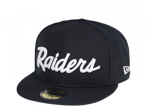 New Era Oakland Raiders Script Editon 59Fifty Fiited Cap