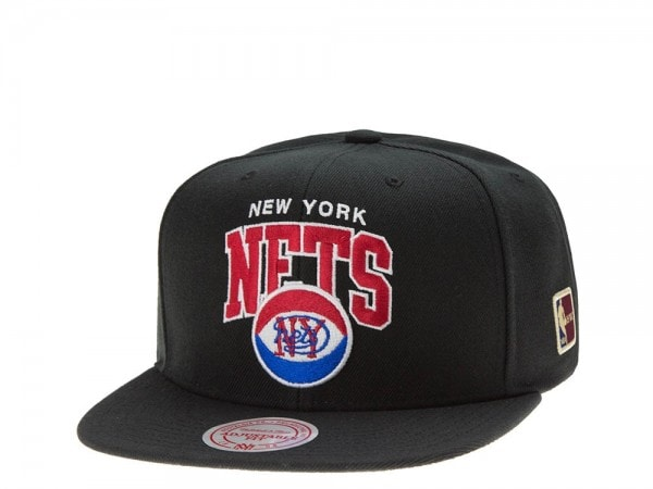 Mitchell & Ness New York Nets Team Arch black Snapback Cap