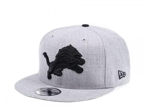New Era Detroit Lions Heather Black Edition 9Fifty Snapback Cap