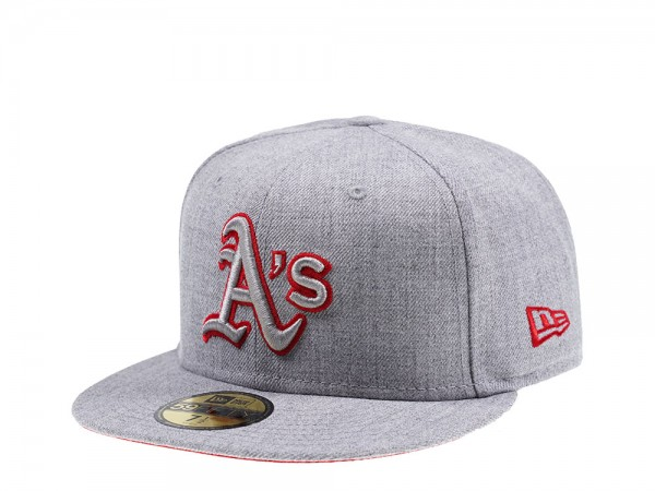 New Era Oakland Athletics Heather Prime Edition 59Fifty Fitted Cap