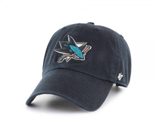 47Brand San Jose Sharks Black Clean up Strapback Cap